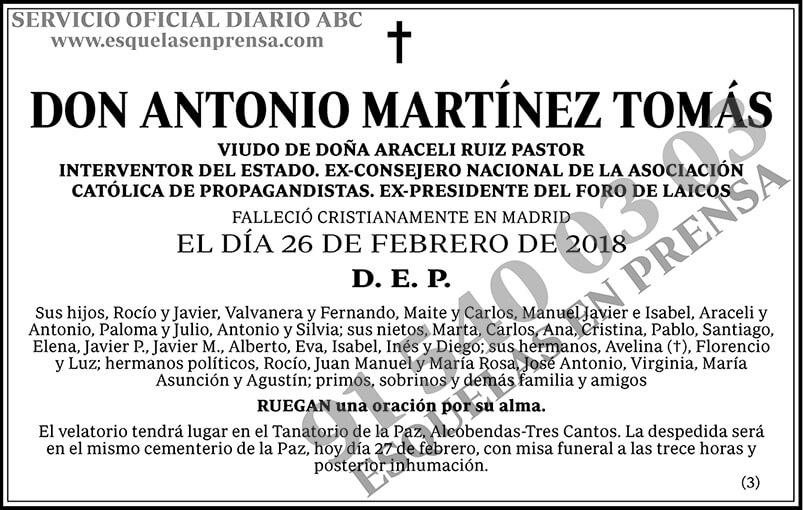 Antonio Martínez Tomás
